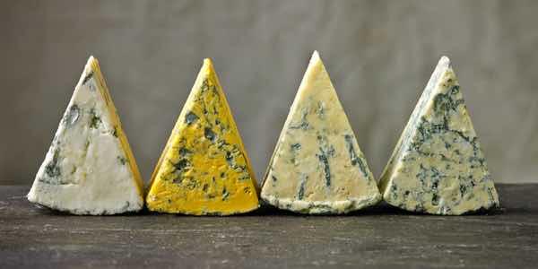 Our blue cheeses, Yorkshire Blue, Harrogate Blue et al