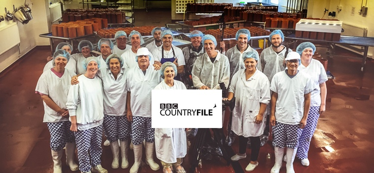 Shepherds Purse team and the crew from Countryfile